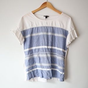 ❤5 for $25 J Crew Tribal Flag Tee M